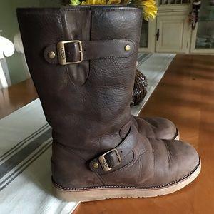 Leather UGG Kensington Boot